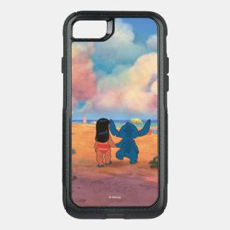 Lilo & Stich  Lilo & Stitch At The Beach OtterBox Commuter iPhone 8/7 Case