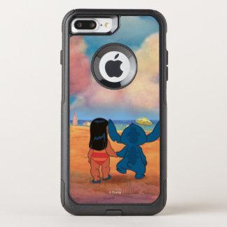 Lilo & Stich |Lilo & Stitch At The Beach OtterBox Commuter iPhone 8 Plus/7 Plus Case