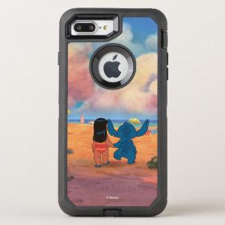 Lilo & Stich  Lilo & Stitch At The Beach OtterBox Defender iPhone 8 Plus/7 Plus Case