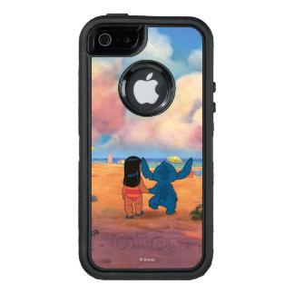 Lilo & Stich  Lilo & Stitch At The Beach OtterBox Defender iPhone Case