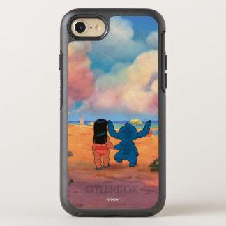 Lilo & Stich  Lilo & Stitch At The Beach OtterBox Symmetry iPhone 8/7 Case