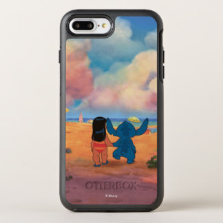 Lilo & Stich |Lilo & Stitch At The Beach OtterBox Symmetry iPhone 8 Plus/7 Plus Case