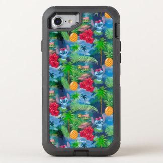 Lilo & Stich   Stitch Pattern OtterBox Defender iPhone 8/7 Case