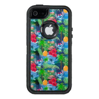 Lilo & Stich   Stitch Pattern OtterBox Defender iPhone Case