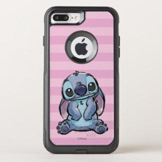 Lilo & Stich   Stitch Sketch OtterBox Commuter iPhone 8 Plus/7 Plus Case