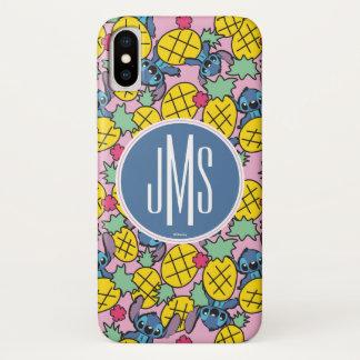 Lilo & Stitch | Monogram Pineapple Pattern iPhone X Case