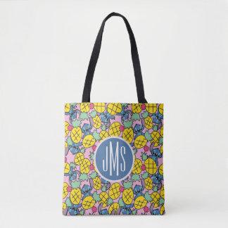 Lilo & Stitch | Monogram Pineapple Pattern Tote Bag
