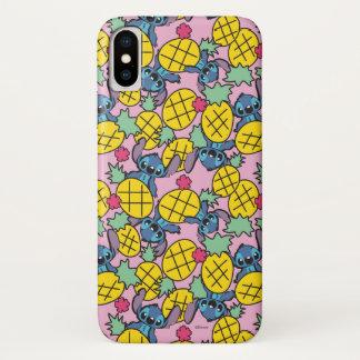 Lilo & Stitch | Pineapple Pattern iPhone X Case