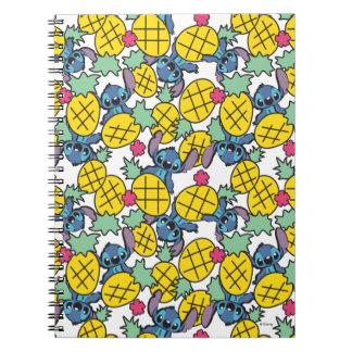 Lilo & Stitch | Pineapple Pattern Spiral Note Books