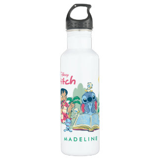 Lilo & Stitch | Reading the Ugly Duckling 710 Ml Water Bottle