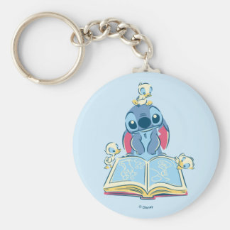 Lilo & Stitch | Reading the Ugly Duckling Keychain