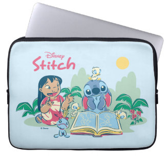 Lilo & Stitch | Reading the Ugly Duckling Laptop Sleeve