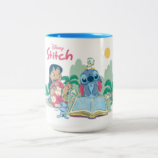 Lilo & Stitch | Reading the Ugly Duckling Two-Tone Coffee Mug