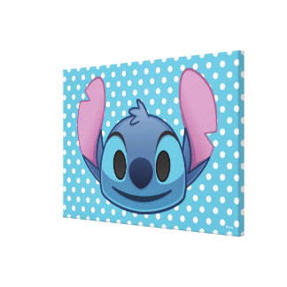 Lilo & Stitch | Stitch Emoji Canvas Print
