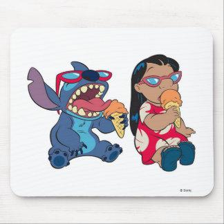 Lilo & Stitch's Lilo and Stitch Eating Ice Cream Mouse Pad