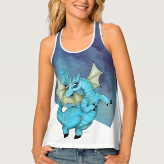 LILOU 2 DRAGON All Over Print Racerback TankTop Tank Top