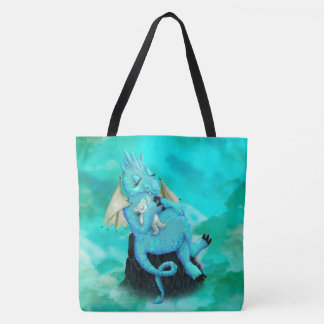 LILOU ALIEN DRAGON All-Over-Print Tote Bag, Large