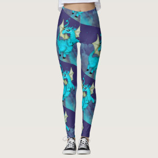 LILOU DRAGON 2 CUTE CARTOON Leggings