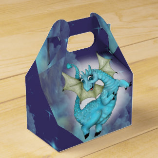 LILOU DRAGON CARTOON GABLE Favor Box