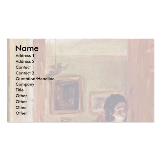Lilving Room With The Artist'S Sister Business Card