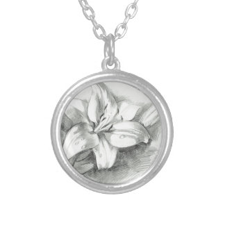 lily-2 silver plated necklace