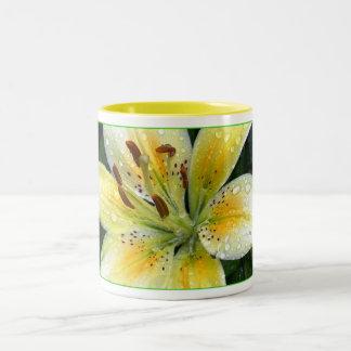 Lily after the rain Two-Tone coffee mug