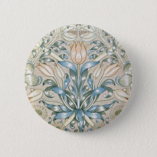 Lily and Pomegranate Vintage Floral Art Design 2 Inch Round Button