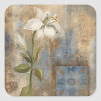 Lily and Tile Square Sticker