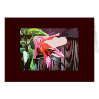 Lily by the Fence Card