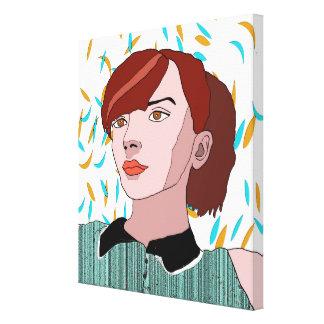 Lily Canvas Print Digital Drawing
