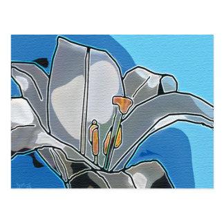 Lily digital art card postcard
