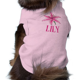 Lily Dog Pink Flower Floral Lilies Lilly Garden Shirt