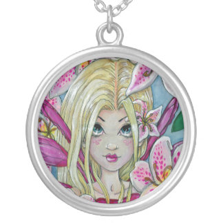 """Lily"" fairy fantasy necklace"