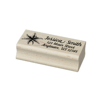Lily Flower Floral Garden Plant Personalized Rubber Stamp