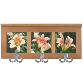 Lily Flowers Coat Rack