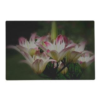 Lily Flowers Nature Laminated Place Mat