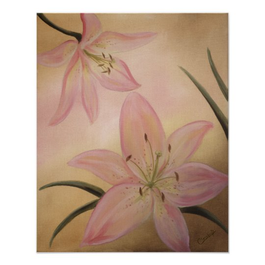 Lily Flowers Poster