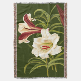 Lily Flowers Throw Blanket