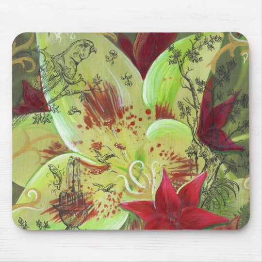 Lily Garden Mouspad Mouse Pad