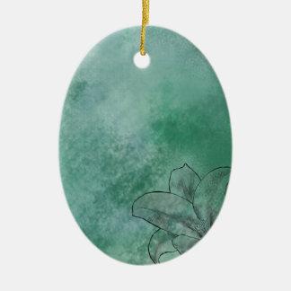 Lily in Blue Ceramic Ornament