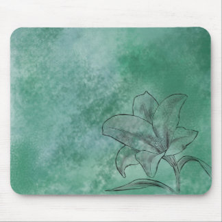 Lily in Blue Mouse Pad