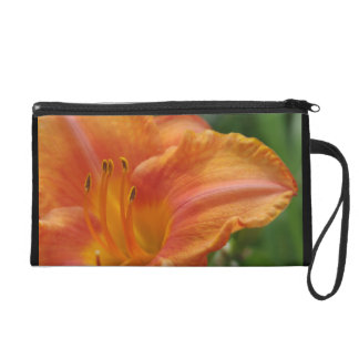 Lily in Orange Wristlet Clutch