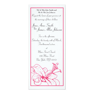 Lily & Lantern Wedding Collection, Invitation 4x9