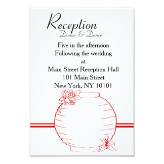 "Lily & Lantern Wedding Collection, Reception Card 3.5"" X 5"" Invitation Card"