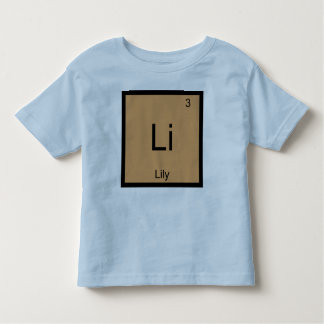 Lily  Name Chemistry Element Periodic Table Toddler T-shirt