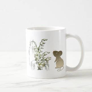 Lily of the Valley and cute mouse art Coffee Mug