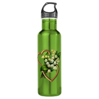Lily of the Valley and Hearts 710 Ml Water Bottle