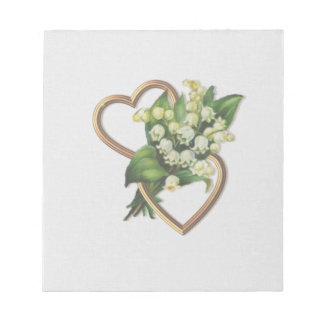 Lily of the Valley and Hearts Notepad