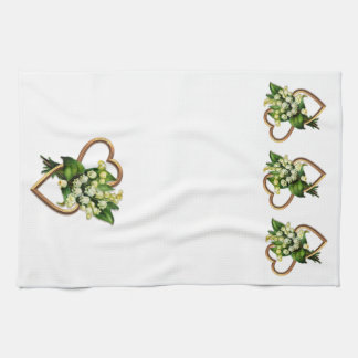 Lily of the Valley and Hearts Towels