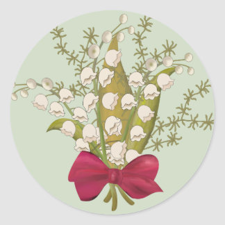 Lily of the Valley bouquet Classic Round Sticker